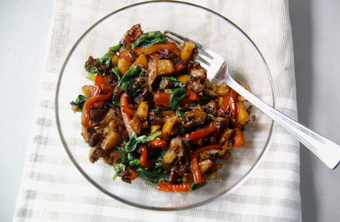 Warm Butternut and Bell Pepper Salad