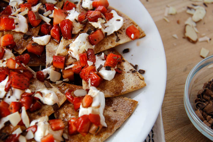 Balsamic Strawberry Nachos